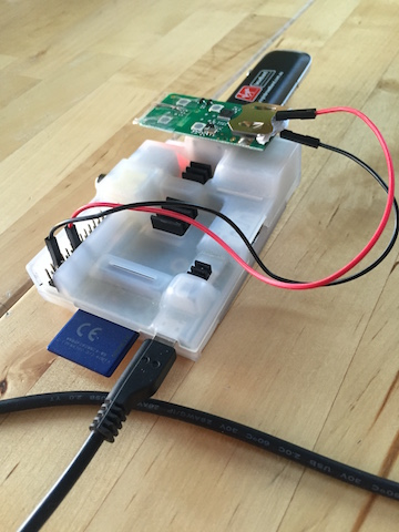 Garage door remote control prototype Raspberry PI